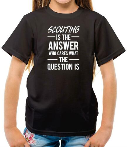 Scout Club Member Camping Scouting Is The Answer Scouts Kids T-Shirt