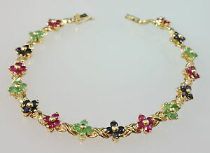 #5469 - 14K Gold - Sapphire, Ruby, and Emerald - 7.5
