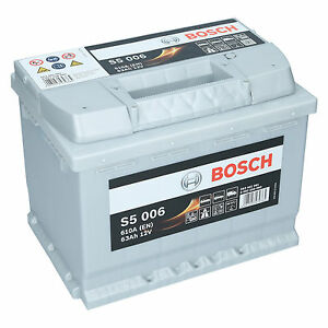pkw autobatterie 12 volt 63 ah bosch s5 006 starterbatterie ersetzt 60ah 65ah ebay. Black Bedroom Furniture Sets. Home Design Ideas