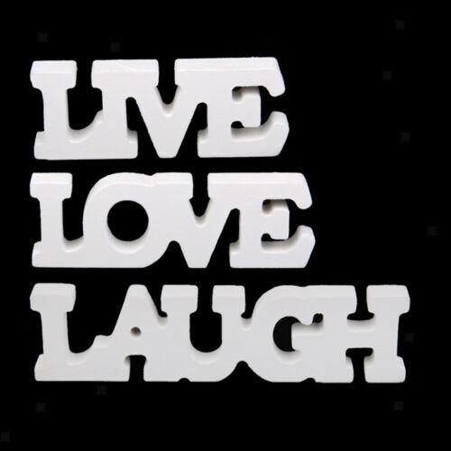 """/""""Live Laugh Love/"""" Holz Aufsteller Schriftzug Holzbuchstaben Haus Dekor"""
