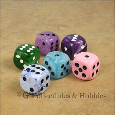 MagiDeal 50pcs 6-sided 16mm Round Corner Blank Dice RPG Party Board Game #18