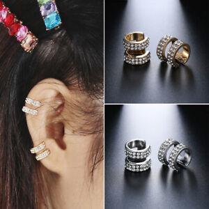 Ohrringe-Double-Band-Ear-Cuff-Kein-Piercing-Ohrring-Klammer-des-Ohres