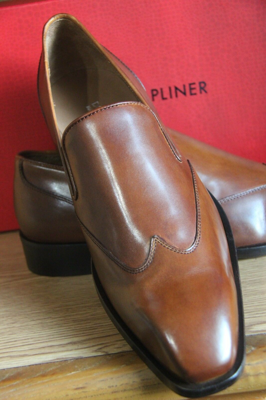 Donald J Men Pliner Valente 01 Saddle Calf Tan Loafers Men J Größe 12 705e19