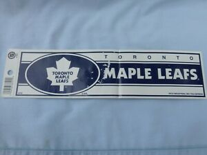 Toronto Maple Leafs Bumper Sticker Style 10 5 X 3 Vinyl Decal By Rico New Sd Ebay