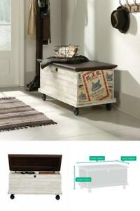 Amazing Details About Rolling Storage Bench Ad Top Trunk Coffee Table Chest Rustic Distressed Entryway Gmtry Best Dining Table And Chair Ideas Images Gmtryco