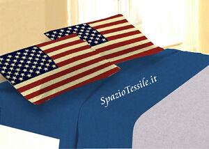 Completo-Lenzuola-Le-Parole-Del-Cuore-Bandiera-USA-Stampa-Digitale-100-cot