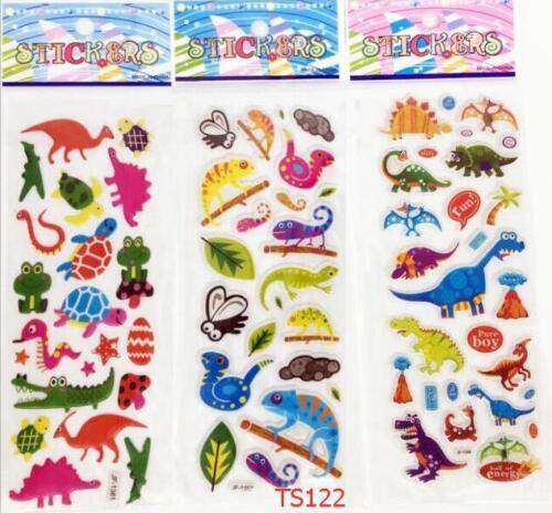 5pcs dinosaur Animals Stereoscopic decorative stickers PVC puffy for kids gift