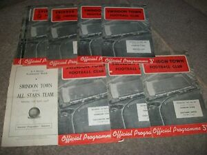 SWINDON-TOWN-v-WALSALL-League-Div-3-1957-8
