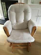 KUB Haywood Glider & Footstool Nursing Chair Beige and