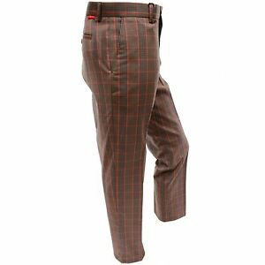 Dwyers-amp-Co-Funky-Checked-Designer-Flat-Front-Golf-Trousers-Carlow