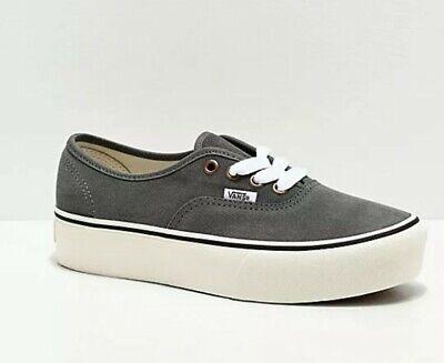 Vans Authentic Vintage Lace Grey Platform Shoes Suede US Men 9 /Women 10.5 | eBay