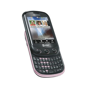 Pantech-Pursuit-II-P6010-Pink-AT-amp-T-GSM-Unlocked-3G-QWERTY-Slider-Phone