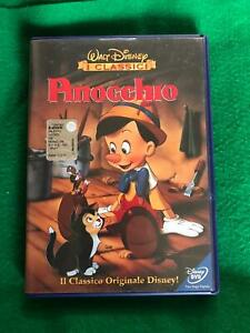 DVD DISNEY PINOCCHIO PRIMA EDIZIONE BUENA VISTA CODICE Z3 DV0038 ologramma tondo