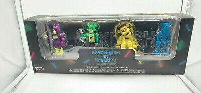 """FunKo Free Shipping! Black Light #2 2/"""" Figure 4 Pack Five Nights at Freddy/'s"""