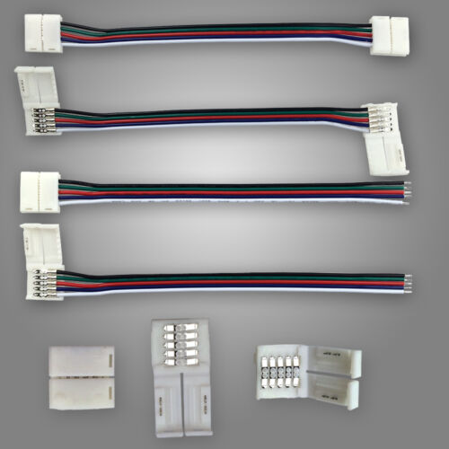 10//20//50//100 x 5Pin Free Soldering Connector Wire Cable For 5050 RGBW LED Strip