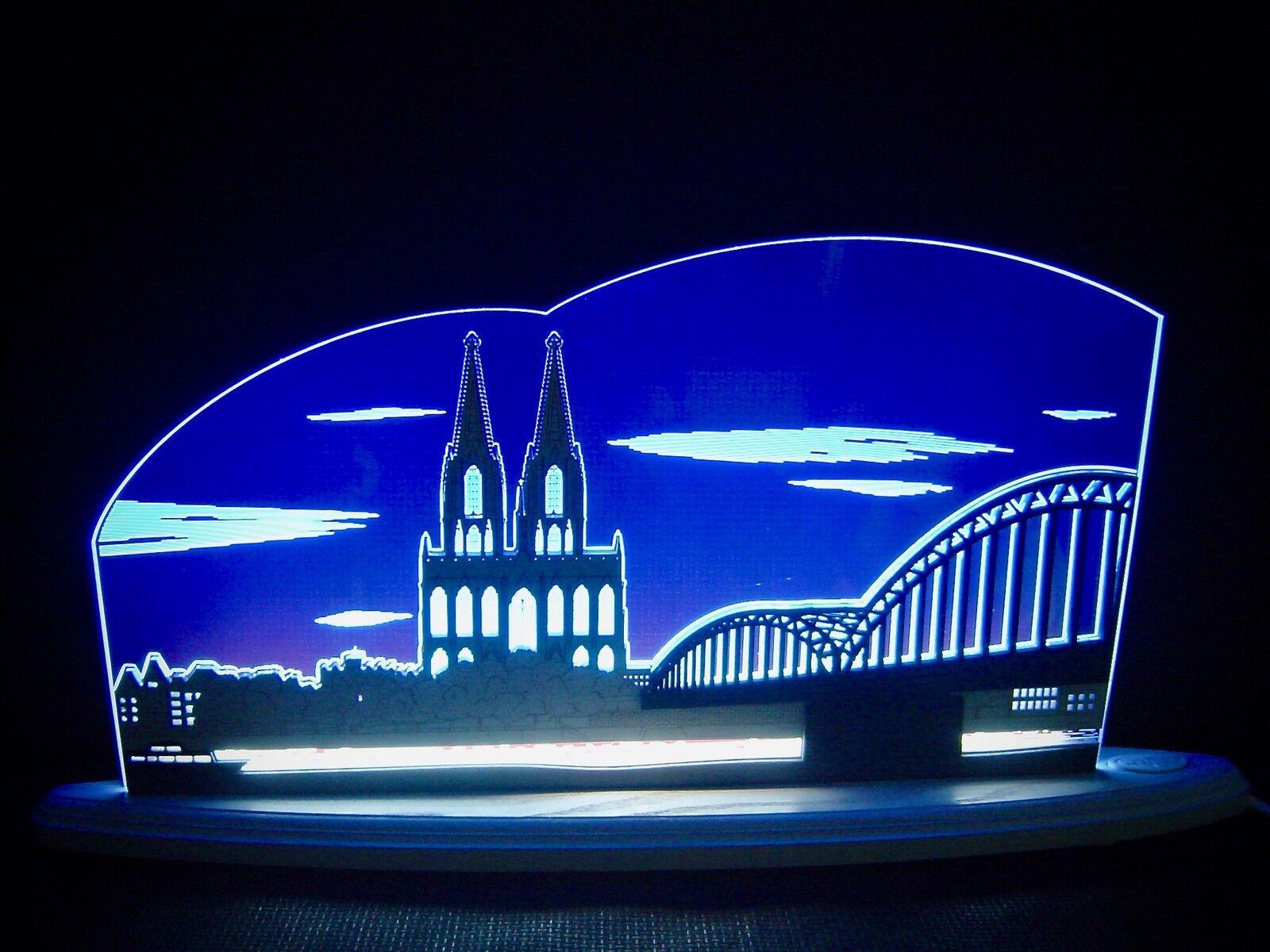 3d Lumières LED Arc plexiglas schwibbogen avec bois Cologne Dom 47x22cm 10700