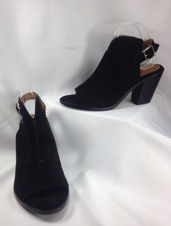 Frye Courtney Sling Donna Shoes Peep Toe Mule Pumps Suede MISMATCH R 10 L 9 M