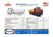 MAZ 551669 2003 catalogue brochure rare tcheque camion truck