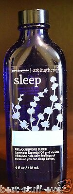 NEW BATH & BODY WORKS AROMATHERAPY SLEEP LAVENDER VANILLA MASSAGE OIL ESSENTIAL