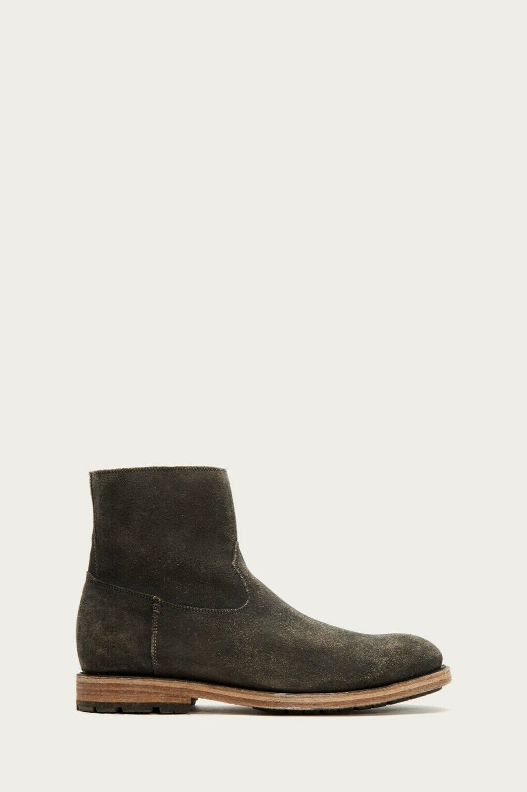 NEW Size 9 Mens Frye Bowery Inside Zip Distressed Suede Faded Black Boots 80337