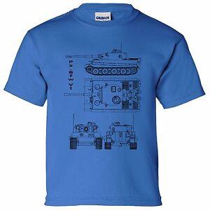 Pzw vi tank blueprint boys kids t shirt thunder war world tanks la imagen se est cargando pz bfw vi tanque blueprint ninos ninos camiseta malvernweather Choice Image
