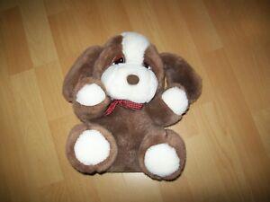 Kuscheltier-Plueschtier-Stofftier-Hund-braun