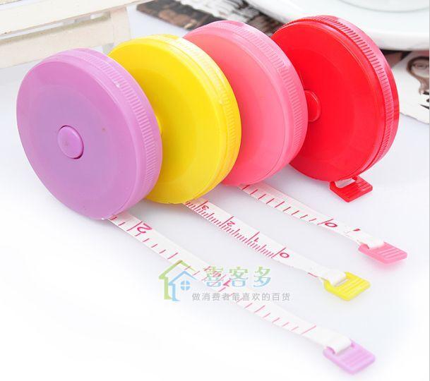 "2x 1.5M Retractable Tape Measure 6"" Mini Tailor Body Measuring Tapeline Ruler"