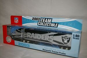 2003-OAKLAND-RAIDERS-Die-cast-Truck-Trailer-Collectibles-9-1-2-x-2-034-Scale-1-80