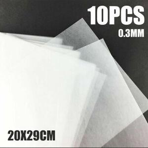 10x-Schrumpffolie-Papier-Transparent-Mattiert-Fuer-Schmuckherstellung-DIY-UV-Harz
