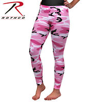 Women's Camo Leggings Pink Camouflage Form Fitting Leggings Rothco 3188