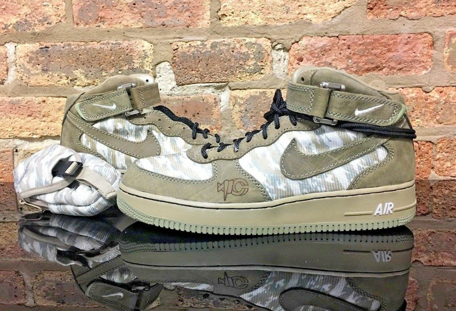 Nike Air Force 1 Mid RECON pack SAMPLE DS Men's Size 11 Olive Khaki Laser Promo