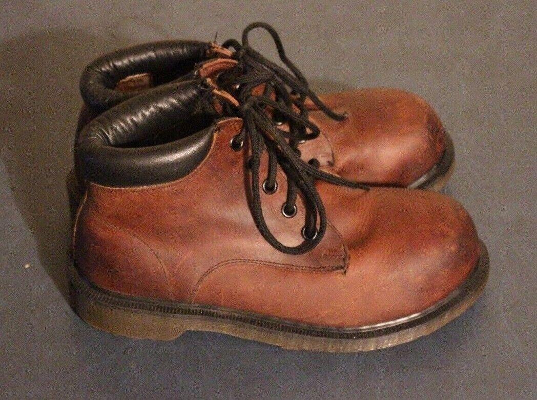 Dr Martens Damenschuhe 7751 Braun Braun Braun Leder Steel Toe Stiefel sz US 5 / UK 3 England 7810dc