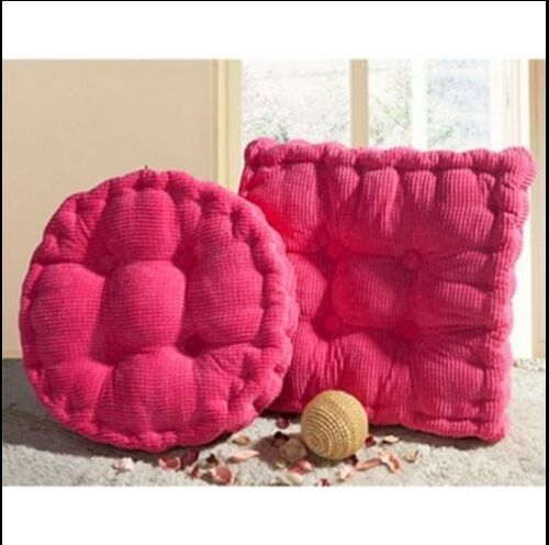 Warm Corduroy Cushion Chair Pads Round Office Sofa Floor Cushion Mats Decor