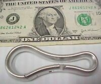Lot 10 Solid Aluminum Carabiner Style Drapery Curtain Shower Rod Ring Home Decor