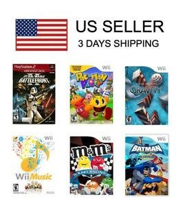 NEW-Nintendo-Wii-Wii-U-PS2-Games-Pick-1-Sony-Playstation-2