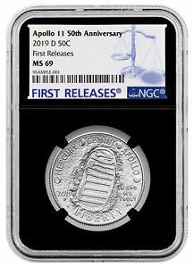 Apollo Historical Memorabilia Open-Minded 2019 D Apollo 11 50th Commemorative Clad Half Dollar Ngc Ms69 Fr Blk Sku57263