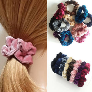 5 Pcs Velvet Elastic Hair Rope Tie Scrunchie Ponytail Holder Accessories Women