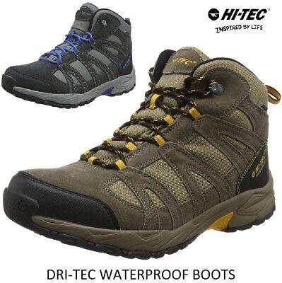 MENS HI-TEC WATERPROOF HIKING BOOTS SIZE UK 7-12 WALKING CHOCOLATE EUROWALK