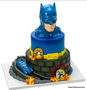 Image Is Loading Batman BIRTHDAY Party Supplies Cake Topper Cupcake Justice