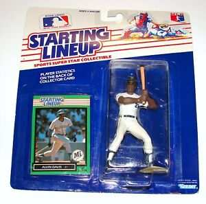 Starting Lineup Alvin Davis MLB Baseball Figure Card MOC KENNER 1989