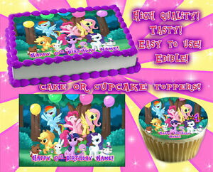 Image Is Loading My Little Pony Edible Cake Toppers Sheet