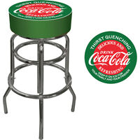 Vintage Coca-cola Bar Stool — Red/green