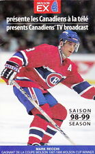 1998-99 MONTREAL CANADIENS HOCKEY POCKET SCHEDULE - FRENCH AND ENGLISH