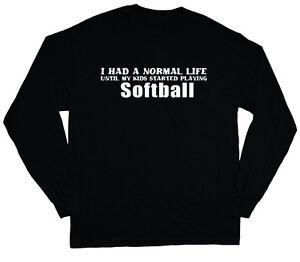 2cffef2e9 long sleeve t-shirt for men softball mom soft ball dad funny saying ...