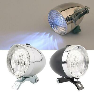 Retro Bicycle Bike 3 LED Front Light Headlight Vintage Flashlight Lamp New