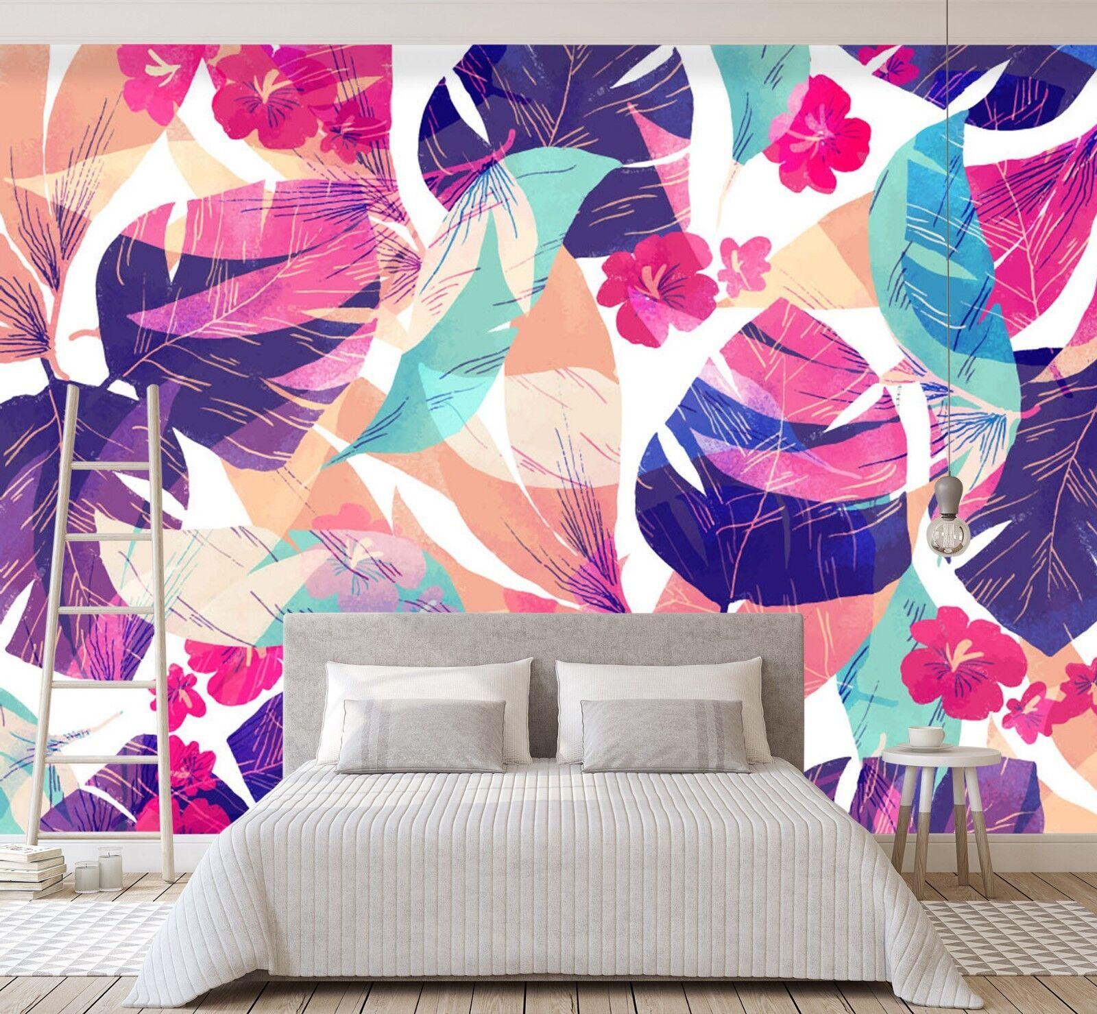 3D Petal Leaves Farbeful 52 Wall Paper Wall Print Decal Wall Deco Indoor Murals