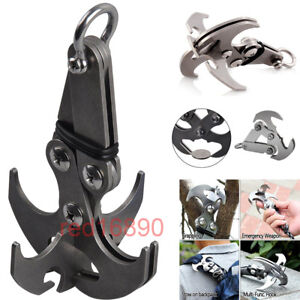 Steel-Gravity-Grappling-Hook-Claw-Sports-Survival-Carabiner-Climbing-Tool