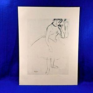 DEGAS-Complete-Portfolio-10-BALLET-Sketches-Ltd-Ed-of-3500-Albert-Carman-1960