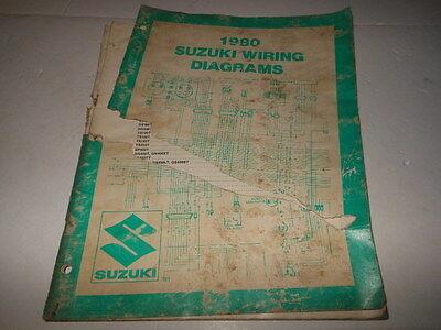 OEM Factory 1980 Suzuki Wiring Diagrams 30 Pages | eBay