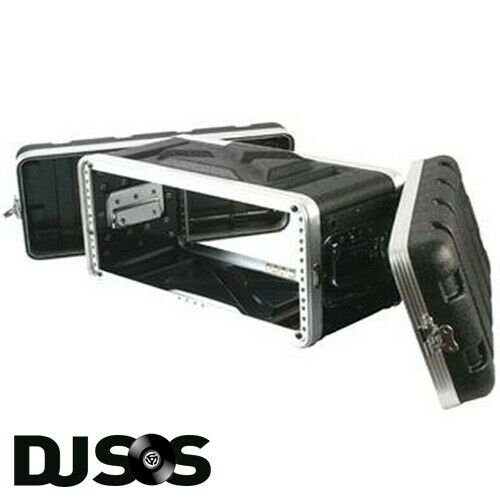 Pulse ABS-4US Rack Flightcase 4U SHALLOW DJ Gear Case Carry Carrying Flight